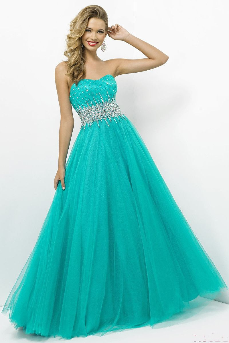 Strapless Sweetheart A-Line Floor-length Beading Prom Dress - by ...
