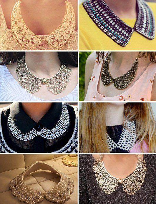 Na tendência do maxi colar: colar gola