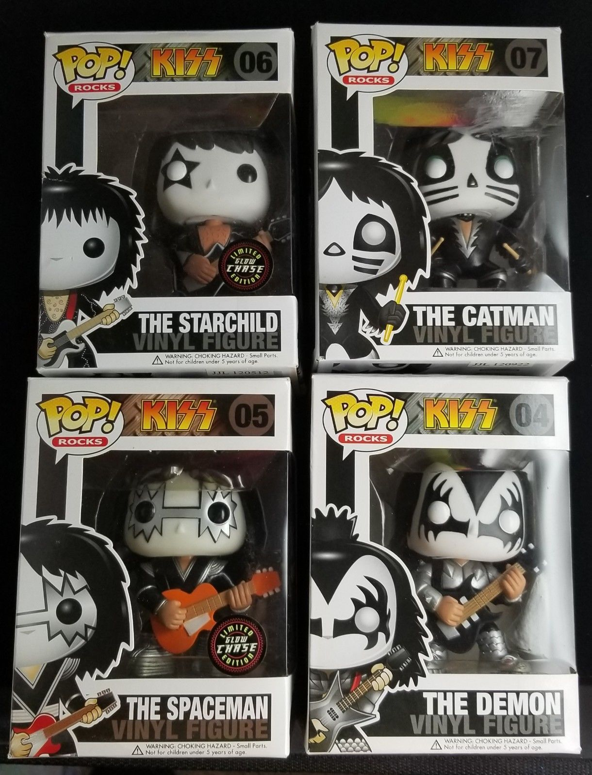 Funko Pop Rare Vaulted Kiss Chase Rock Band Very Hard To Find Kiss Rock Bands Funko Funko Pop