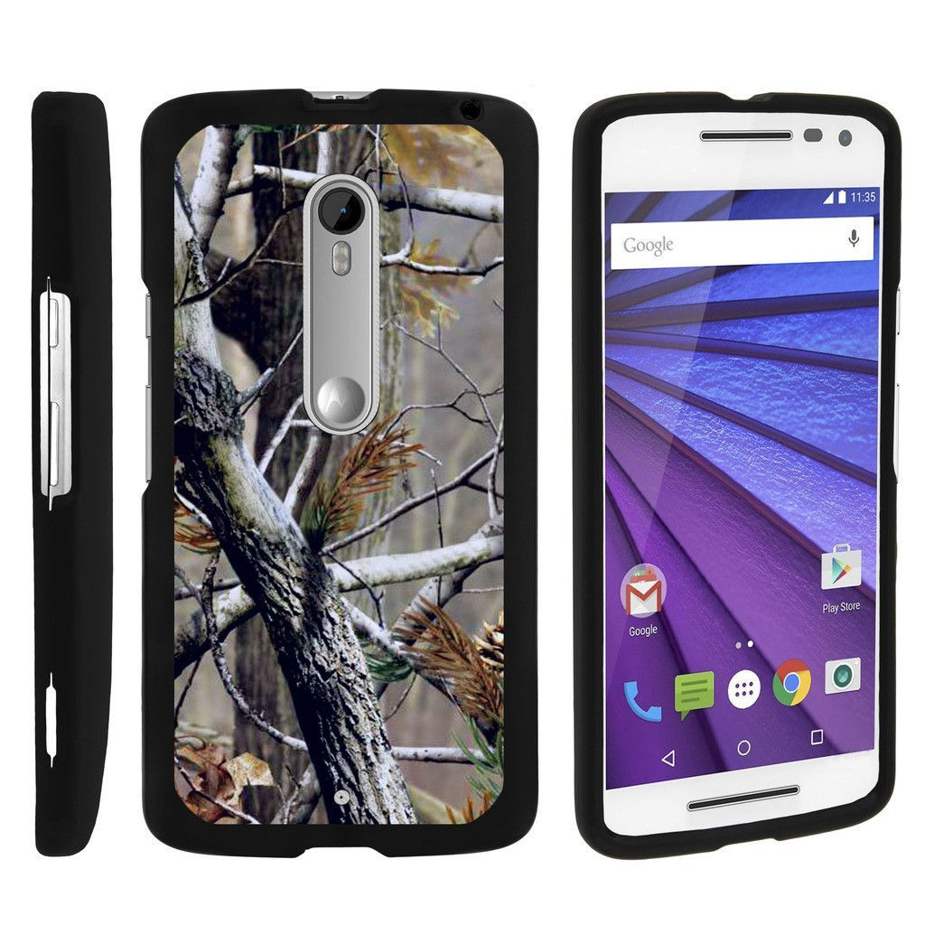Moto X - Style Case SNAP SHELL 2 Piece Rubberized Hard Cover Plastic - Hunter Camouflage