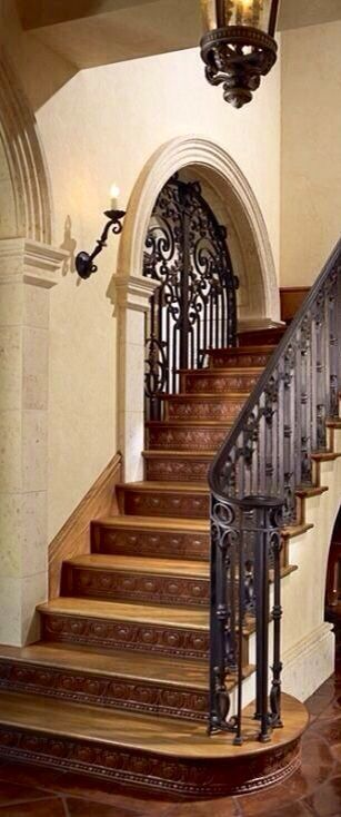 Ironwork....gorgeous by summer   Stairs, Tuscan house ...