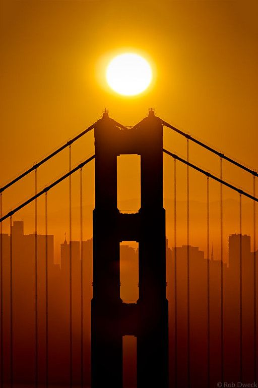 Sunrise Over the North Tower, Golden Gate Bridge; photo by Rob Dweck