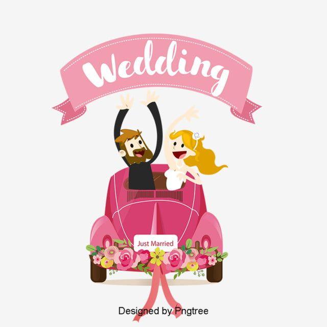 Cartoon Wedding Car Background Vector Material Png And Psd Gambar Pengantin Gambar Pengantin