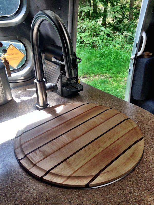 Custom Airstream Cutting Board (This One Is Made Of Walnut, Cherry U0026 Maple.)