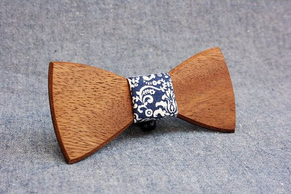 Wooden Bow Tie PENGUIN™ / SIMPLE by PenguinBowTie on Etsy