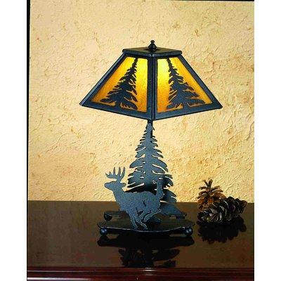 Meyda Tiffany Lone Deer 14 Table Lamp Table Lamp Tree Lamp Table Lamp Shades