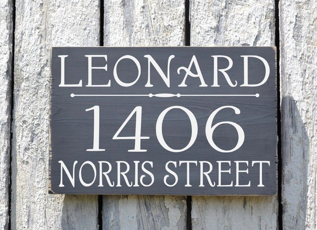 Custom Address Plaque Large Personalized Numbers House Sign Painted Outdoor  Wood New Home Number Hanging Lamp