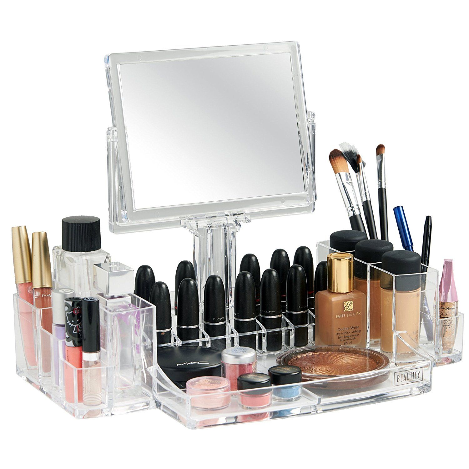Beautify Clear Acrylic Cosmetic Makeup Holder and