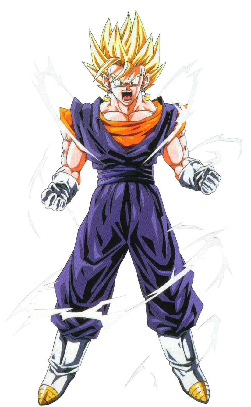 """#Vegito as a Super Saiyan. Slow clap for the anime since Toriyama originally had the gay name of """"Vegerrot"""" or something like that."""