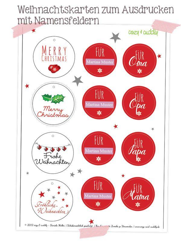 Geschenkanhänger Frohe Weihnachten.Adventskalender Türchen Nr 20 Geschenkanhänger Zum Ausdrucken Mit