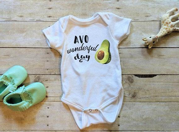 1457f8578 Avocado Baby Onesie®, Gender Neutral Onesie®, Fiesta Birthday Shirt, Baby  Kindness Bodysuit, Positiv