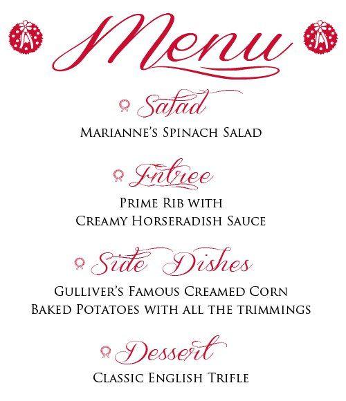 Marianneu0027s Spinach Salad Recipe Christmas dinner menu, Menu - dinner menu