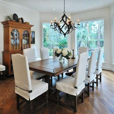 White Dining Room. Dining Chair CoversSeat ...