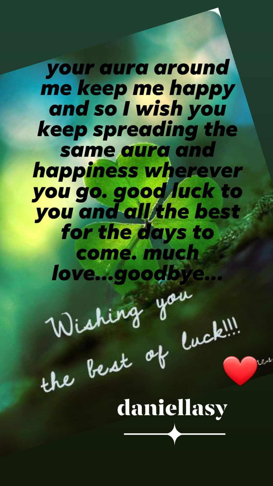 I Wish You The Best : Around, Happy, Spreading, Happiness, Wherever