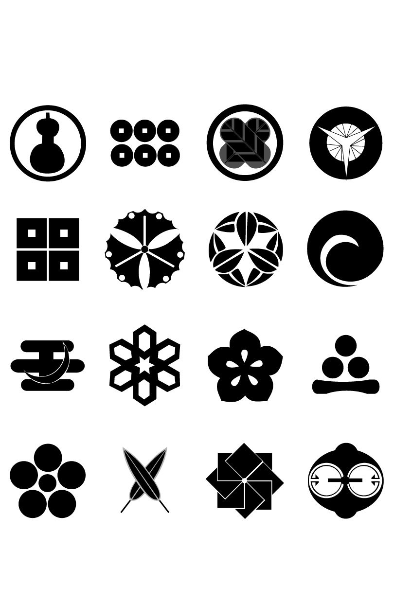 Symbols Japanese Vector Symbolsg Abstract Expression