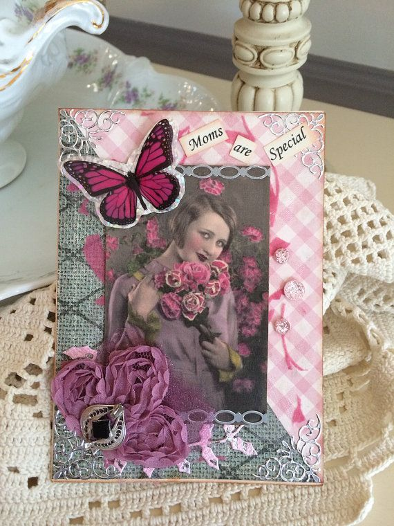 Mother's Day Card Happy Mother's Day Victorian Mom by AvantCarde