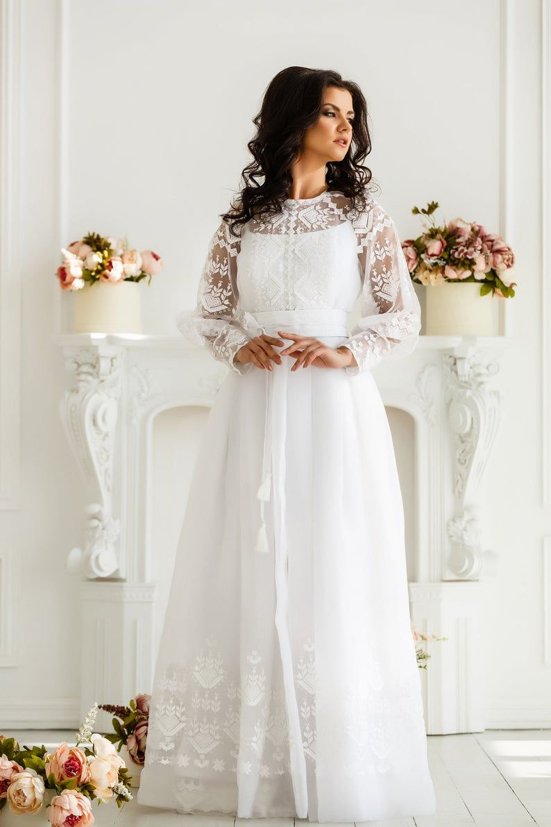 70s Boho Wedding Dress Vintage Hippie Ivory Off White Cream Etsy Vintage Wedding Dress Boho Lace Dress Boho Wedding Dresses Hippie