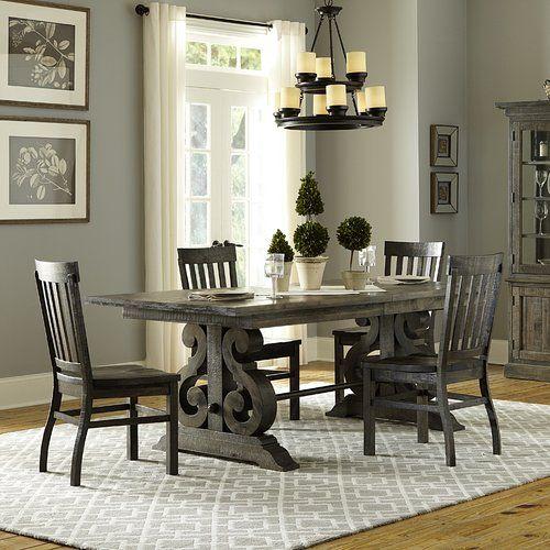 Scroll Table Upscale Farm House Dining Room Sets Grey Dining Tables Dining Room Table