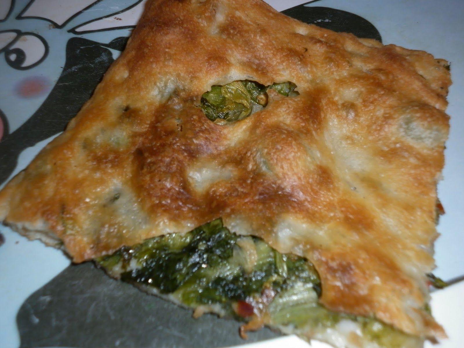 Mangio sano........mangio Vegano! (e mi diverto): Pizza ripiena di scarola