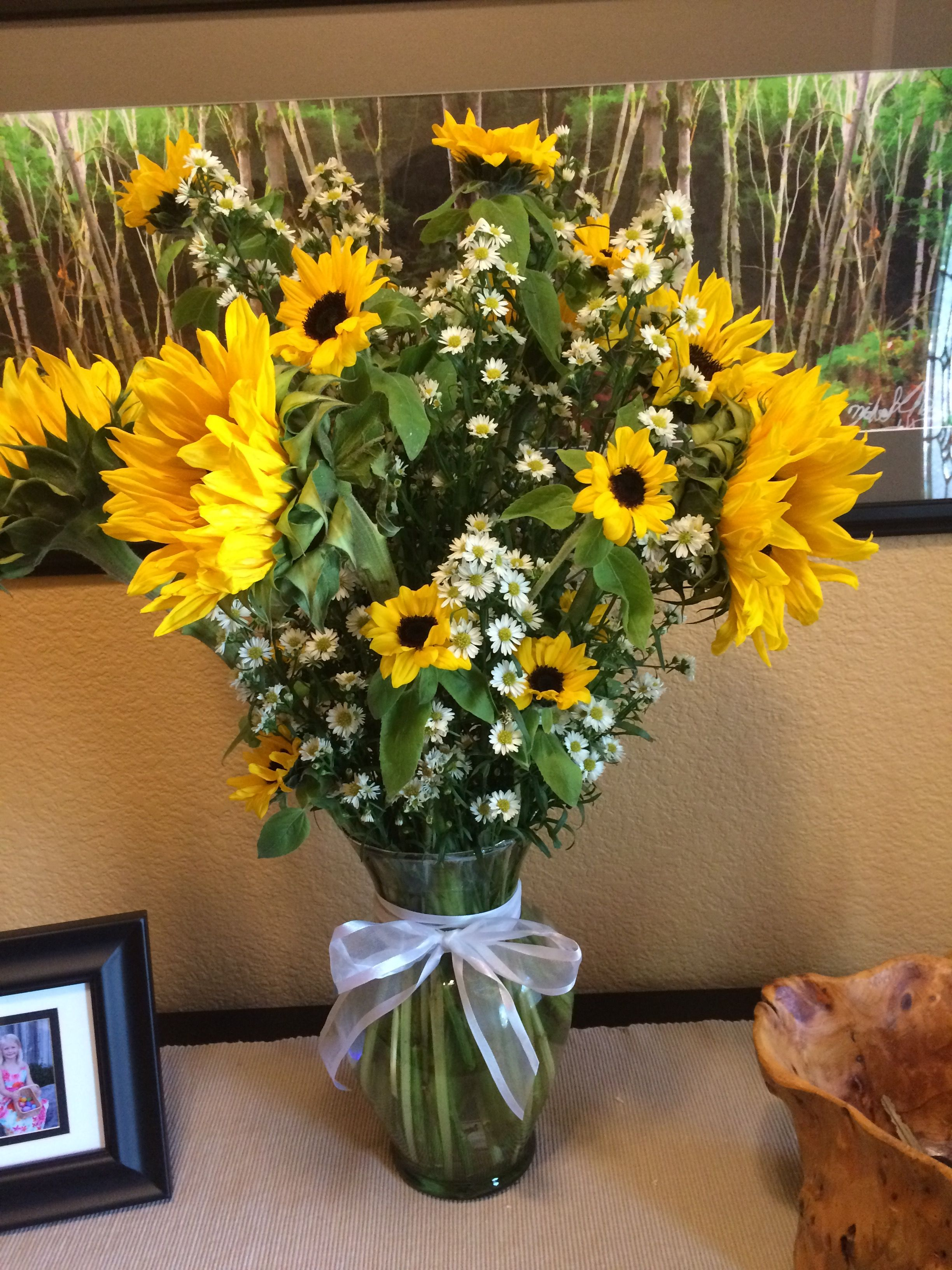 Sunflower bouquet for Sally's birthday (With images