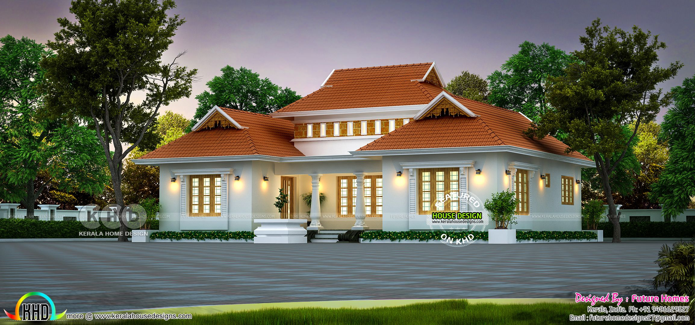 1250 Sq Ft Outstanding Traditional Kerala Home In 2020