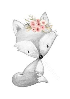 Graue Koralle rosa Kindergarten Drucke Set 3, grau Wald Tiere, Kindergarten Drucke, Wald Kindergarten Wandkunst, Floral Wald Fuchs Kaninchen Hirsch #cuteanimalphotos