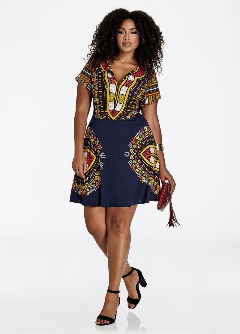 Zip Front Dashiki Dress Dashiki Zip And Zip Front Dress