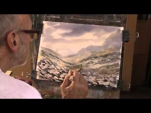 Painting rocks using a plastic card - YouTube
