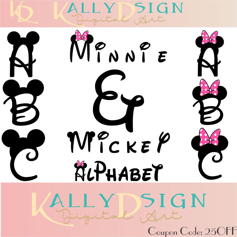 Mickey Ears Disney Svg Svg Files Alphabet Letters Minnie Mouse Svg Alphabet Svg Cricut