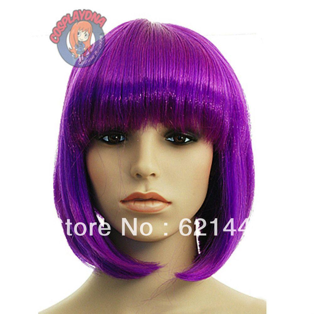 wigs+purple+hair | Purple Human Hair Wig