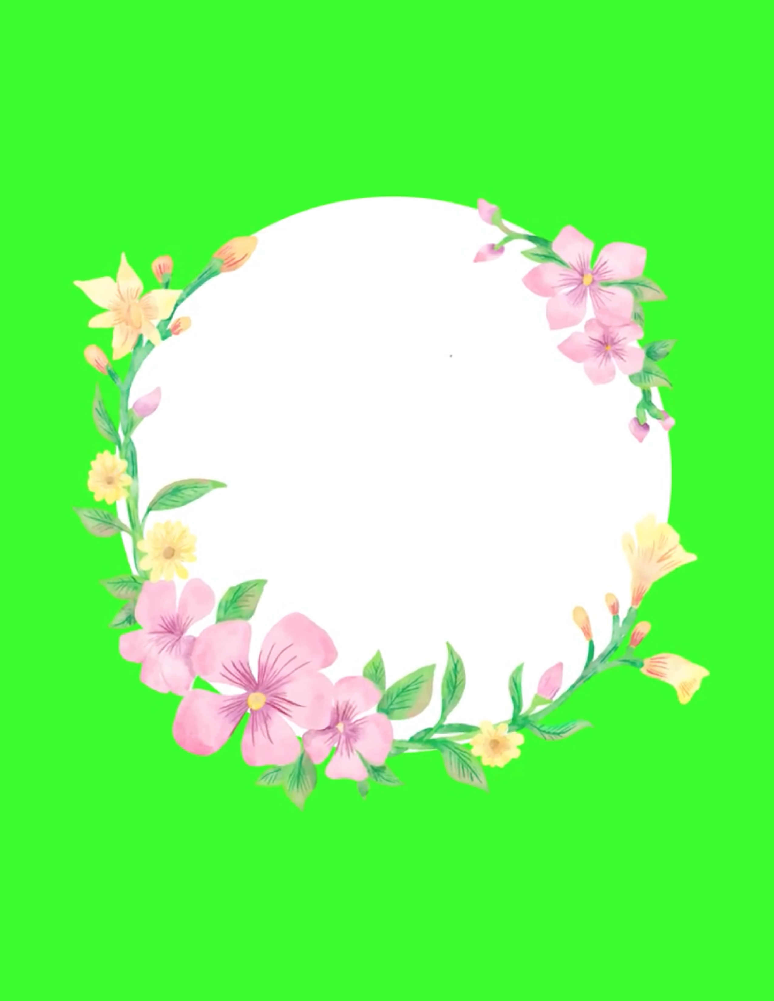 Free Animated Crown Flowers Swing White Text Space In 2020 Greenscreen Wedding Frames Free Green Screen Illustration of smiling frog cartoon style. pinterest