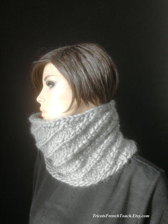 snood col laine pour femme ou homme,snood accessoire de mode hiver en laine, 50991eeaa2d