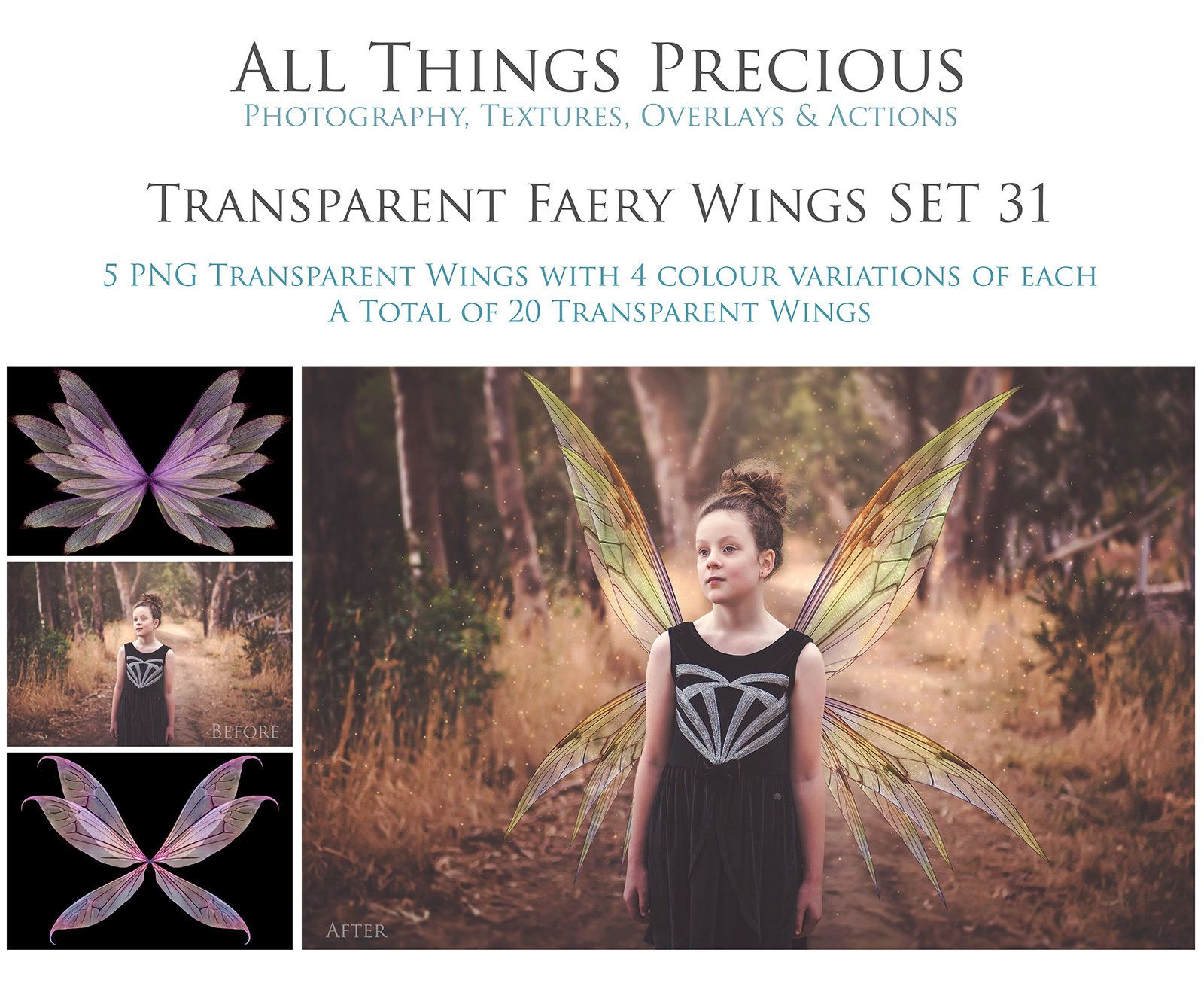Overlays 20 Png Fairy Wings Set 31 Faery Wing Fine Art High Resolution Photography Photoshop Overlay Digital Clipart Photoshop Overlays Overlays Fairy Wings