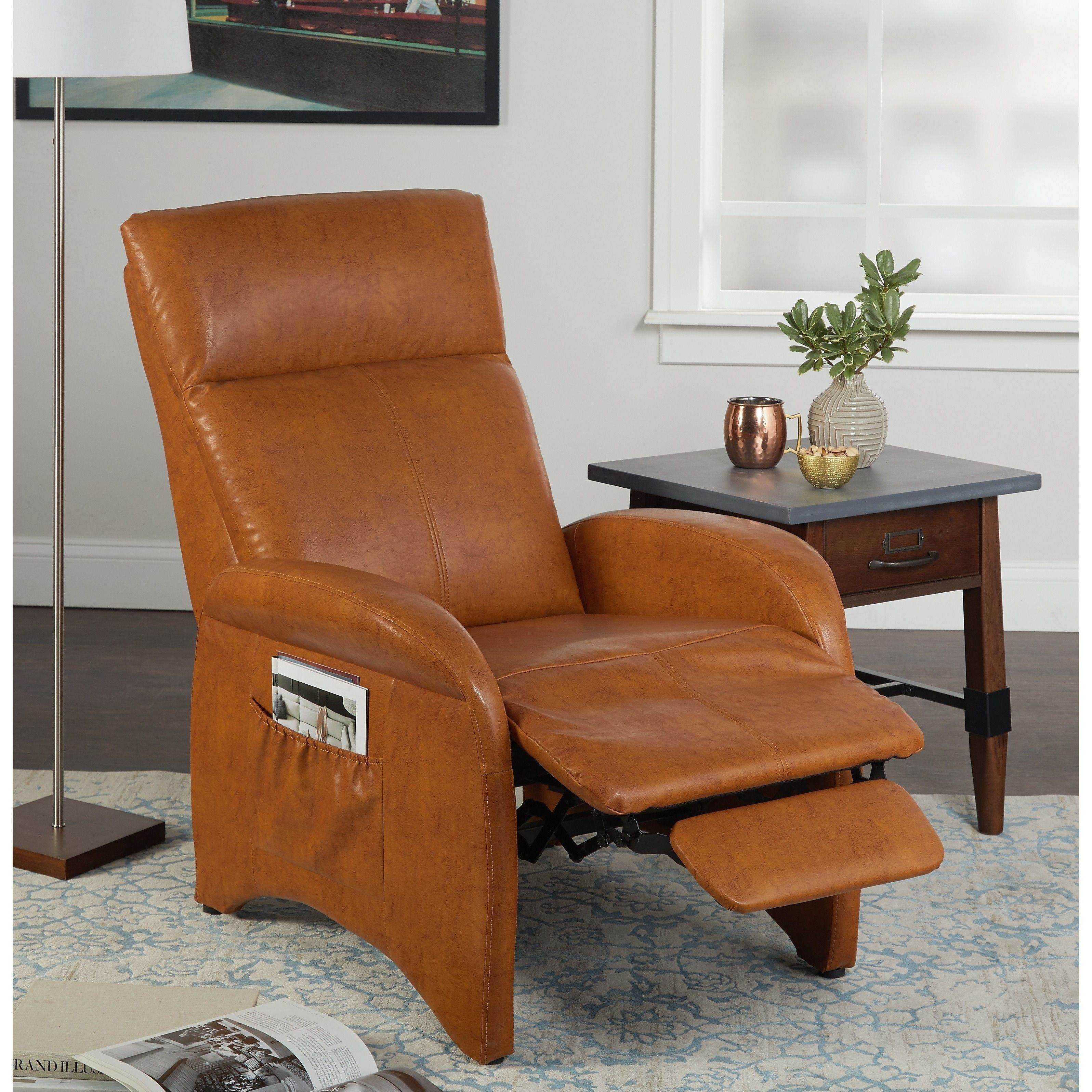 Simple Living Addin Small Reclining Accent Chair | Accent