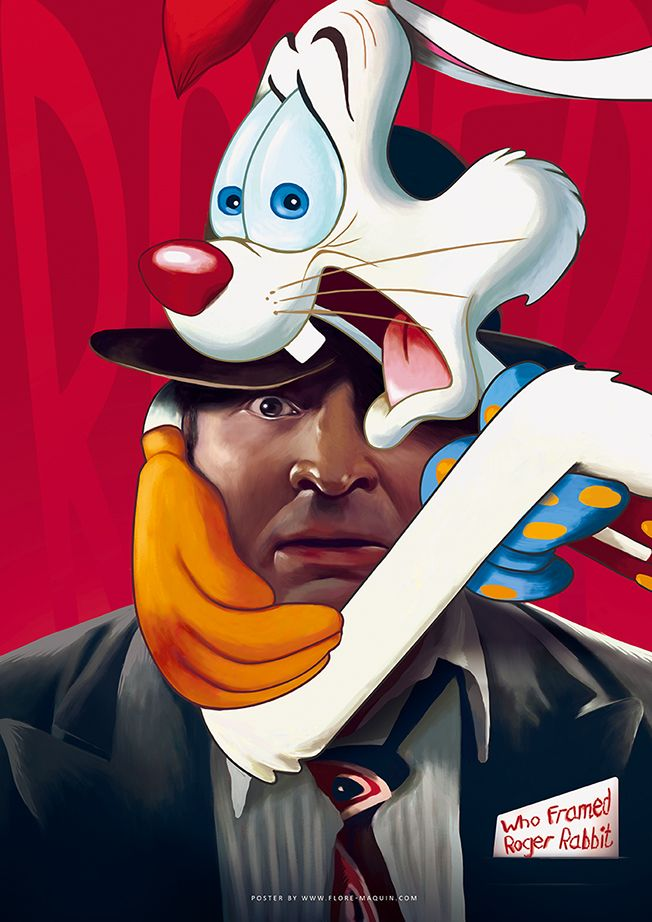 Who Framed Roger Rabbit by Flore Maquin | Favorite Posters | Pinterest