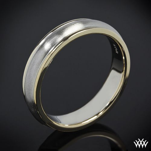 Whiteflash Verragio Two Tone 5mm Men S Wedding Ring