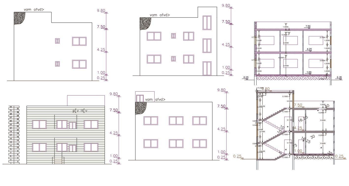 140 Square Yards House Building Design Autocad File Building Design Building A House Duplex House Design