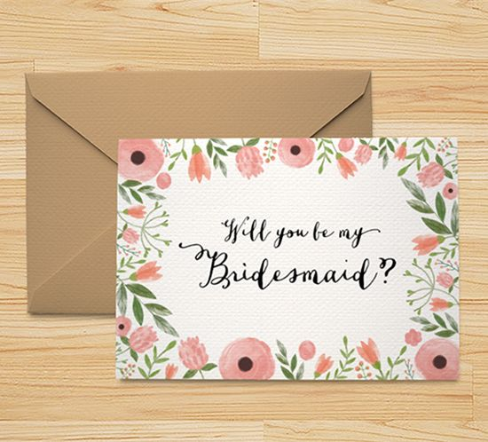 Free Printable Will You Be My Bridesmaid Card Bridesmaid Cards Be My Bridesmaid Cards Bridesmaid Proposal Cards