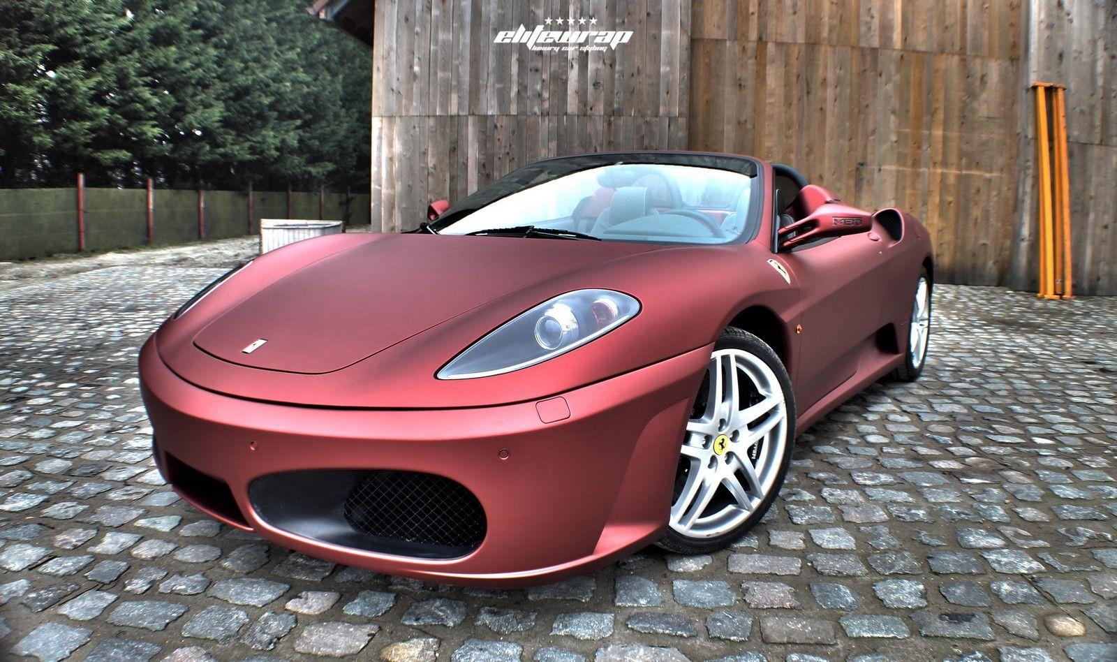 Bon Ferrari Wraps | Anodized Red Satin Ferrari F430 Spider By Elite Wrap