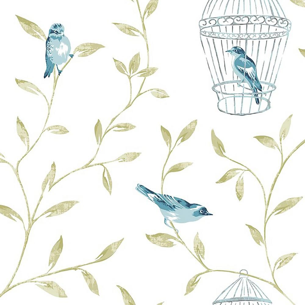 Graham Brown Teal Birds And Cages Wallpaper 50 517 Bird Wallpaper Teal Wallpaper Teal Bird