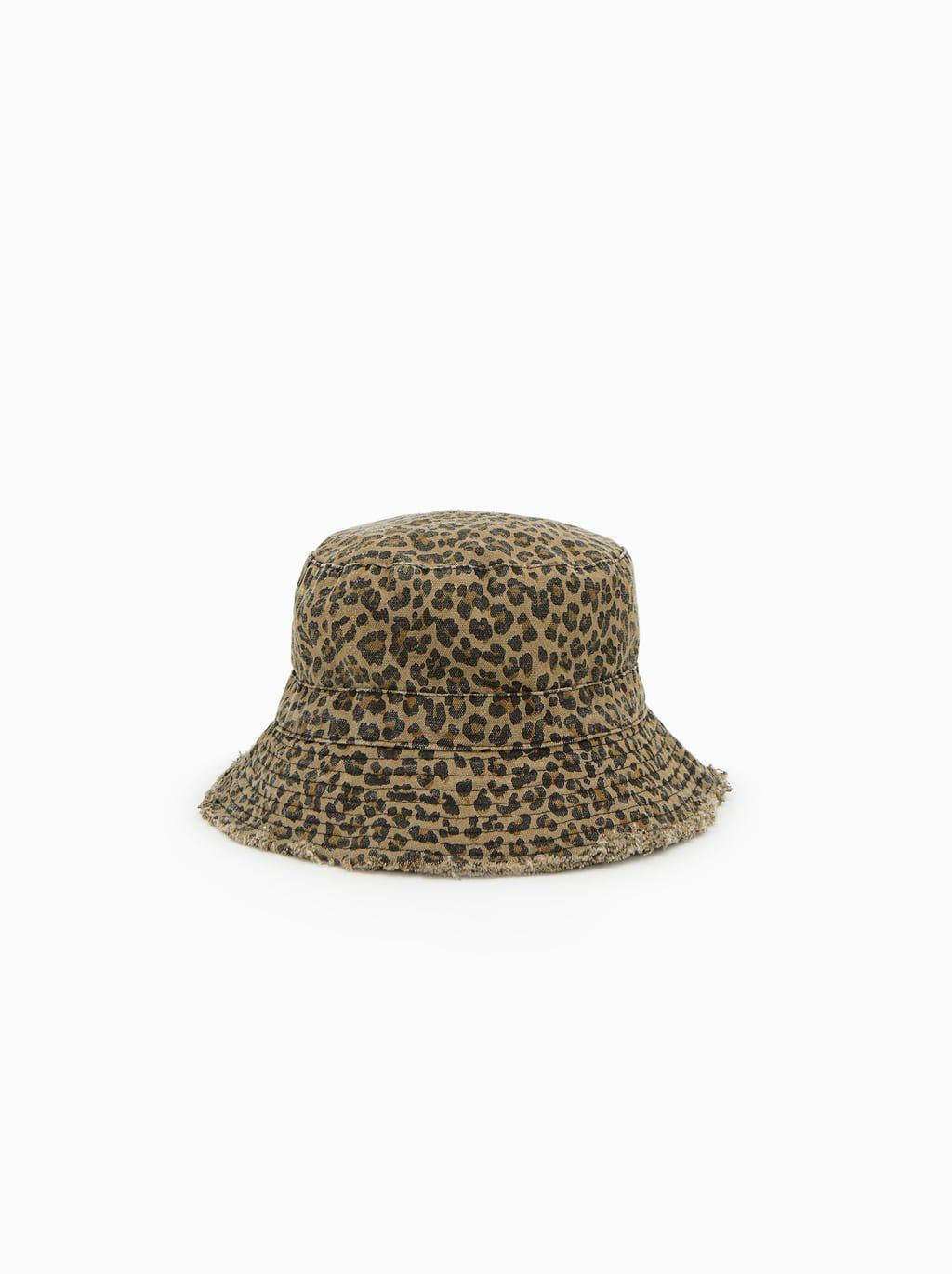 9e3f634b Image 1 of FRAYED EDGE LEOPARD HAT from Zara Kids Hats, Baby Hats, Bonnets