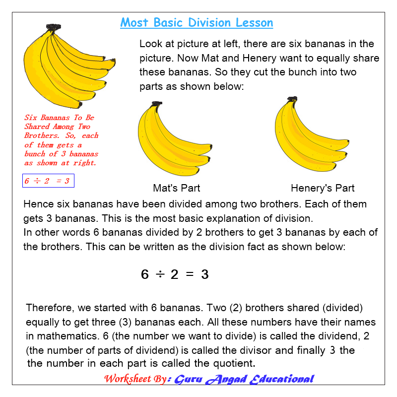 Teach basic division to your kids visit this site to print easy – Teaching Division Worksheets