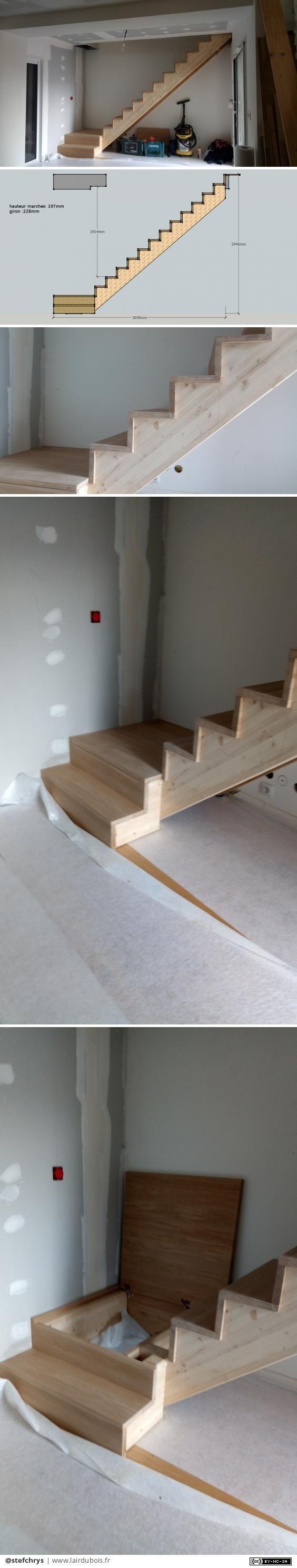 Escalier avec coffre sous palier par stefchrys – #avec #coffre #Escalier #ete #p…