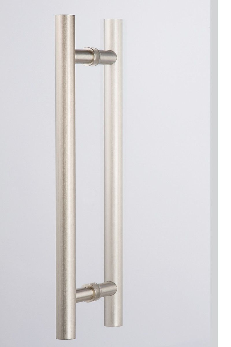 Dh5 Bb 17s Satin Nickel Large Cylindrical Door Handle Back To