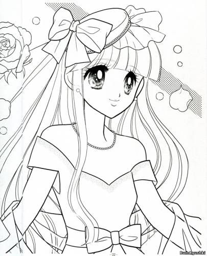 Anime Shoujo Coloring Pages Sketch Coloring Page Princess Coloring Pages Coloring Books Vintage Coloring Books