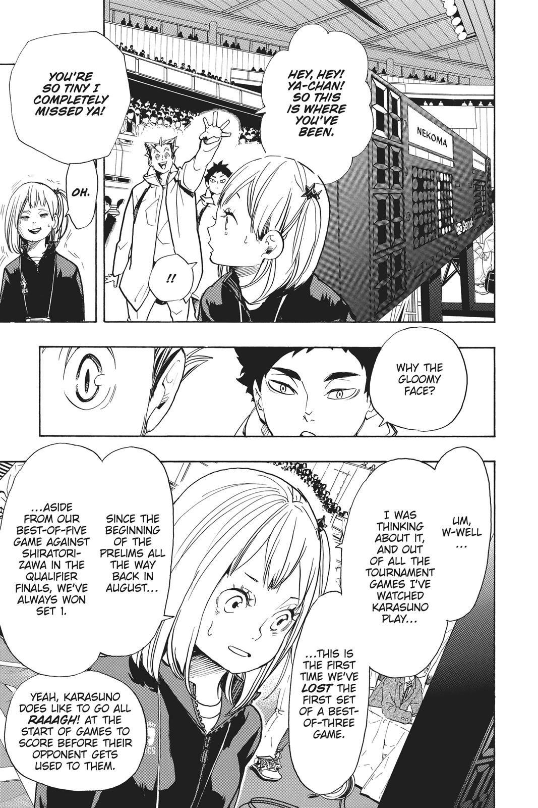 Haikyuu Chapter 306 Read Haikyuu Manga Online Haikyuu Anime Haikyuu Manga Haikyuu