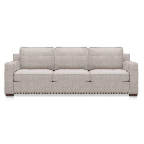 BAROSSA 3 Seat Fabric Sofa With Studs