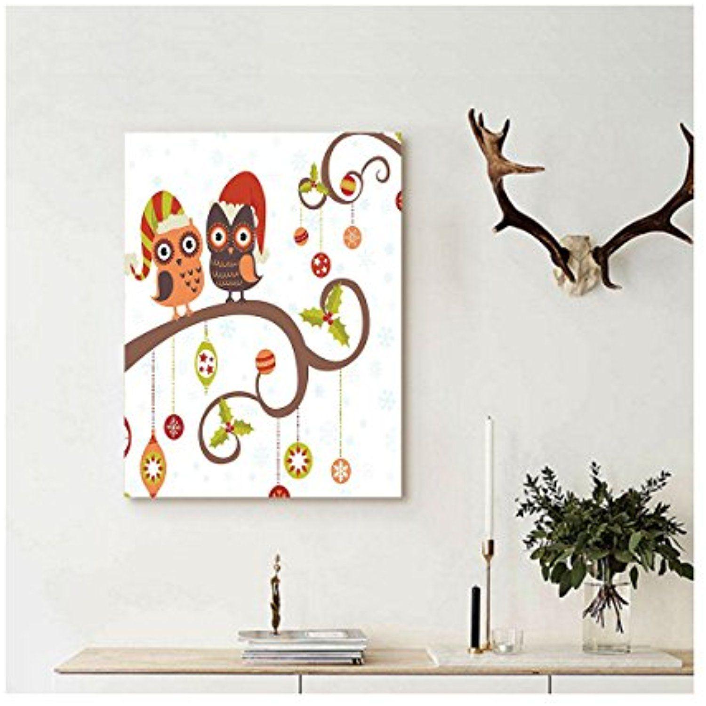 Liguo custom canvas christmas decorations wall hanging large eyed