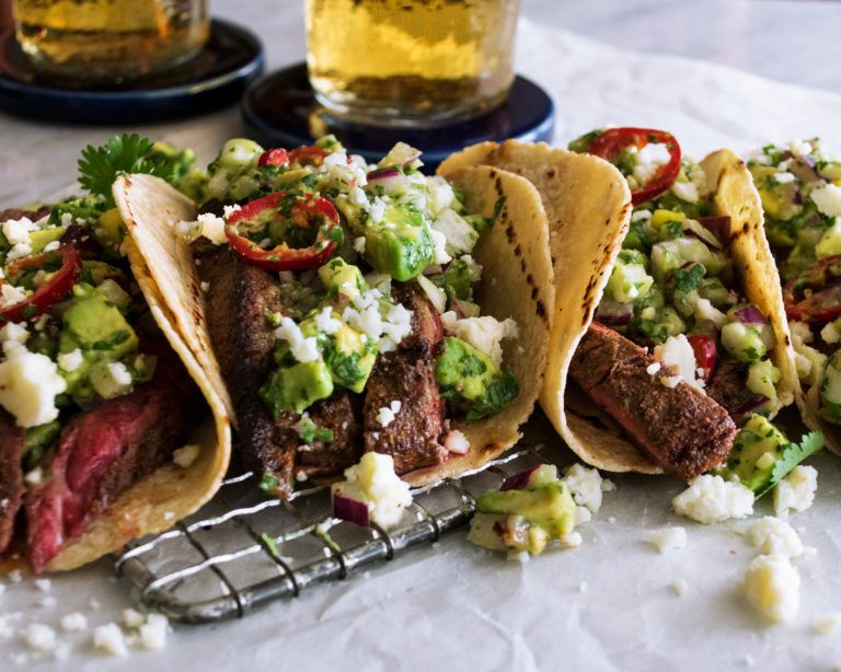 Spiced Flank Steak Tacos with Avocado Salsa - The Original Dish