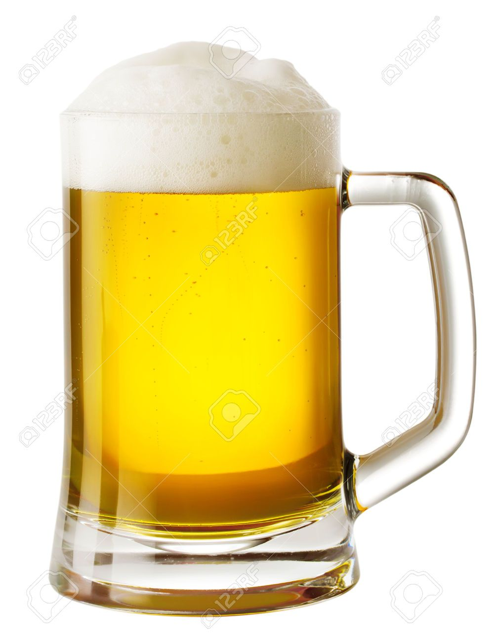 Mug Of Beer With Foam Isolated On White Background Beer Mugs Beer Mugs